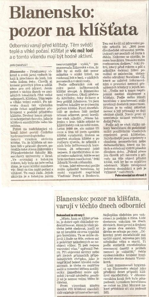 Blanenský deník 30.4.2011