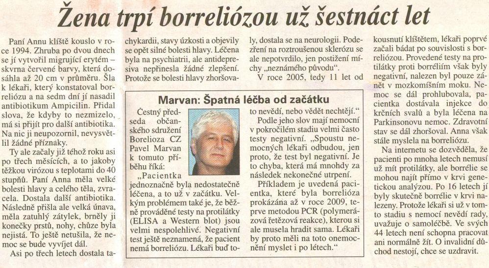 Článek uveřejněný v Právu 21. 8. 2010